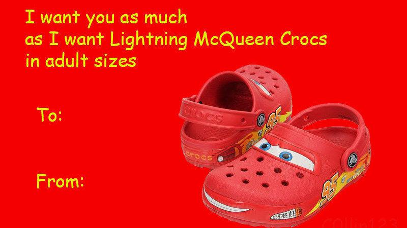 make lightning mcqueen crocs in adult