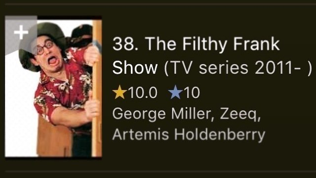 Petition · IMDB: Bring the Filthy Frank Show back to IMDB's top 250