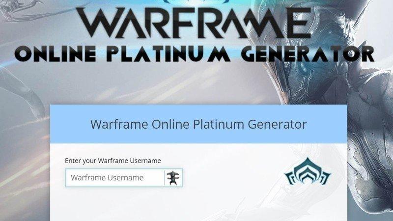 Warframe platinum generator no survey no password no download