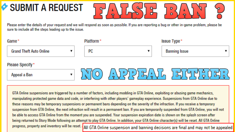 Petition · UN-BAN The Wrongly Accused Players On GTA 5 Online, AND