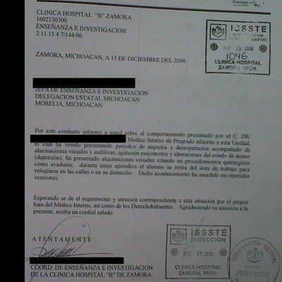 Petición · TITULAR DEL ORGANO INTERNO DE CONTROL EN EL ISSSTE ...