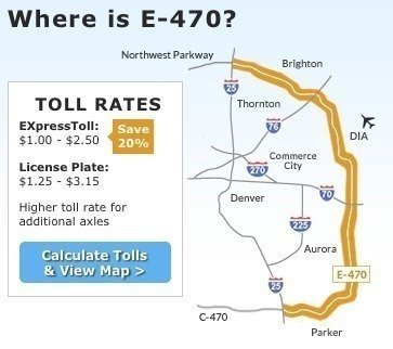 E 470 Toll Map Petition · Stop unfair E 470 tolls East of I 25 in the Denver