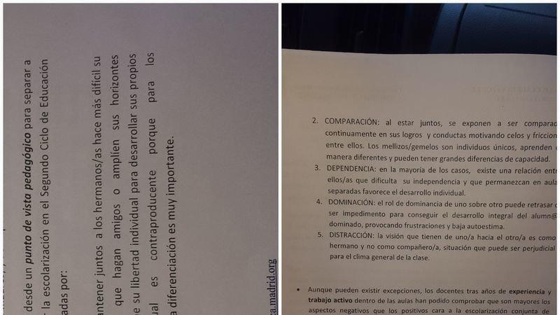 Petition update · RAZONES DEL COLEGIO PARA SEPARAR A