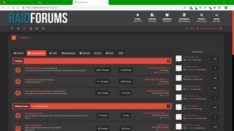 Petition · Take down RaidForums com · Change org