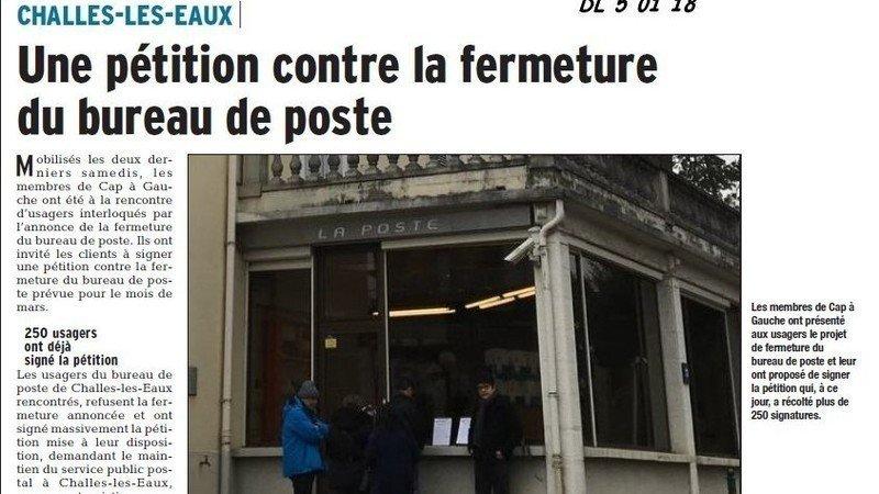 Petition Update Challes Les Eaux Veut Garder Son Bureau De Poste Change Org