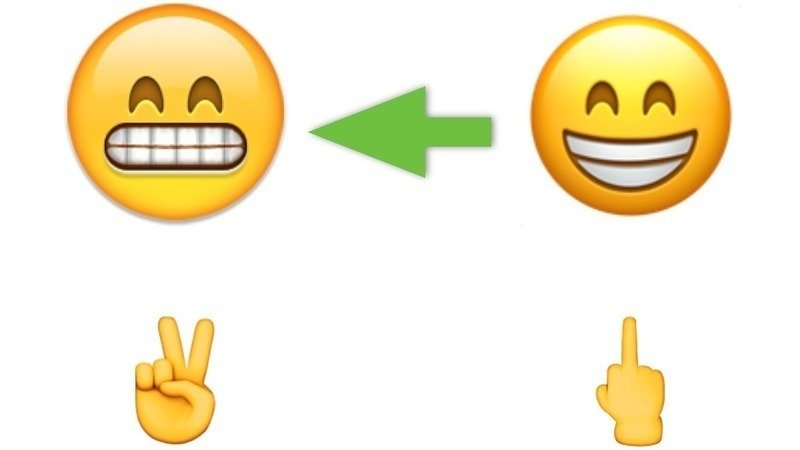Bring Back The Original Grinning Face With Smiling Eyes Emoji To IOS