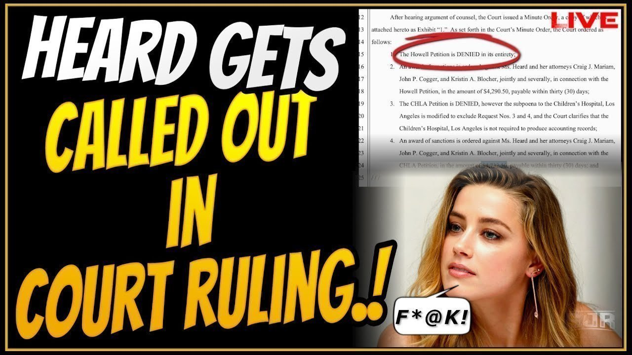 Petition update · Amber Heard loses court ruling · Change.org