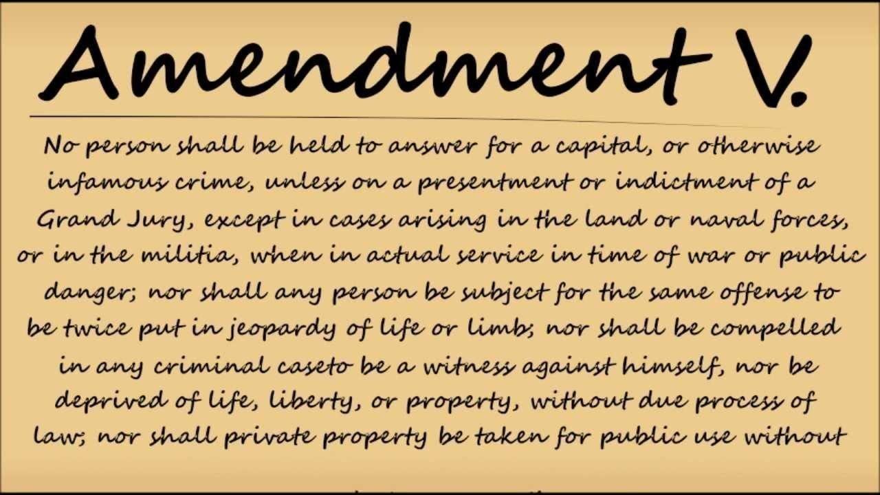 Essay About The 5Th Amendment