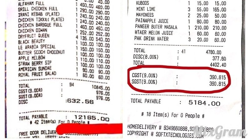 to avoid gst for hotel foods