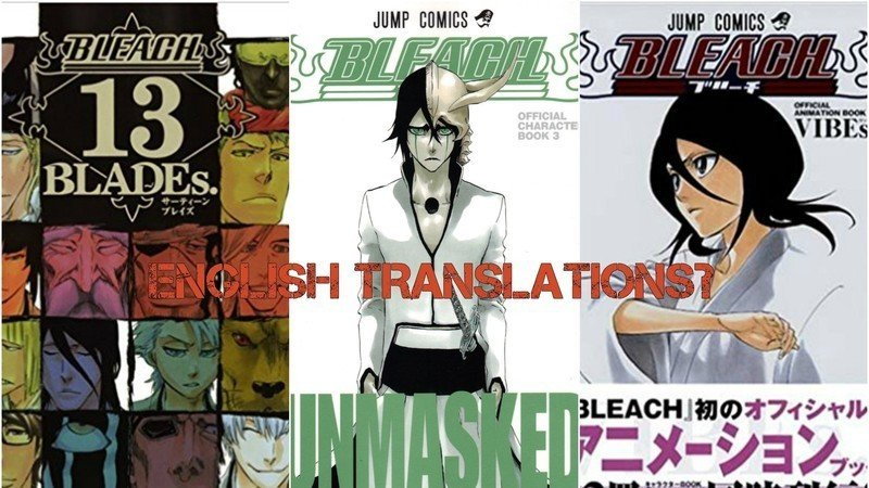 Ask VIZ Media To Translate The Non English Bleach Guidebooks!