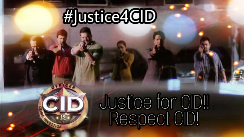 Petition · Telecast CID regularly with due respect! · Change org