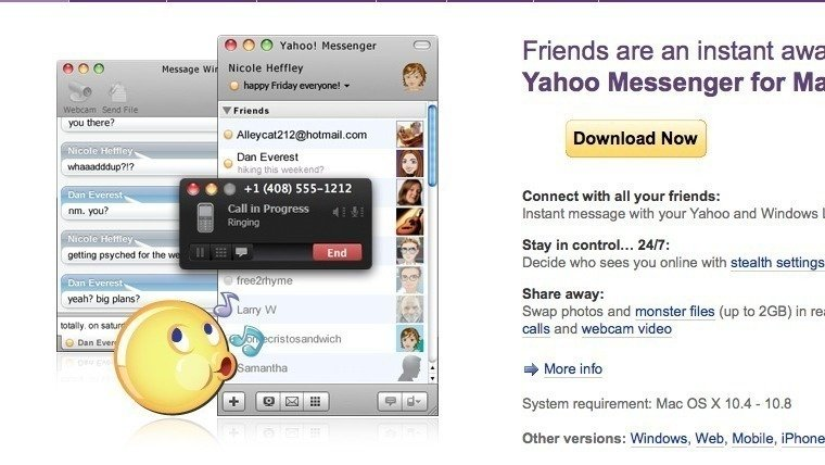 yahoo messenger update