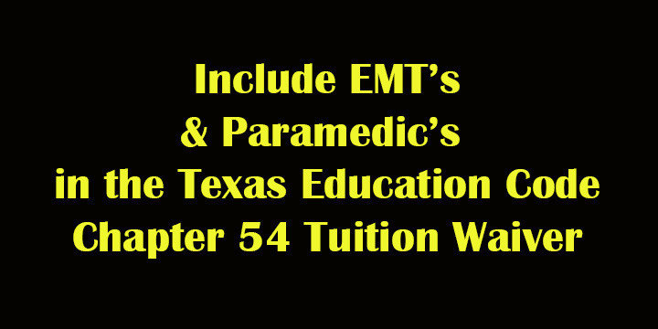 Petition · Include paramedic's and EMT's in the Education Code 54