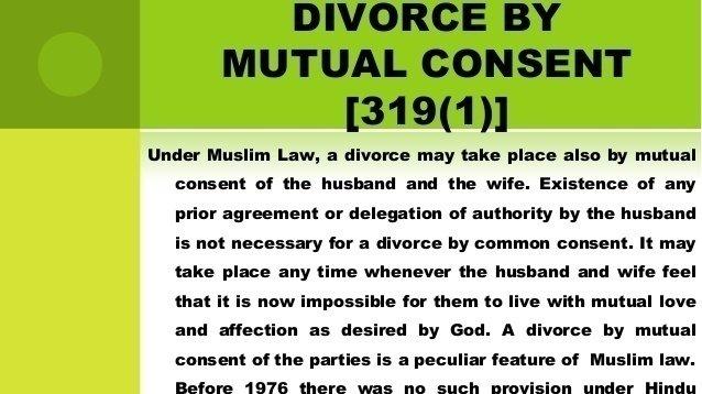 Consent divorce