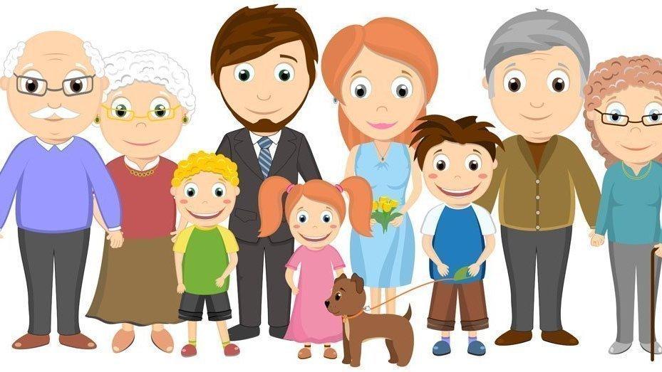 мультяшные фото семьи даже