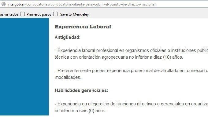 Petición Presidencia De La Nación Argentina Inta Inti