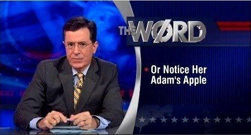 Colbert report sex word
