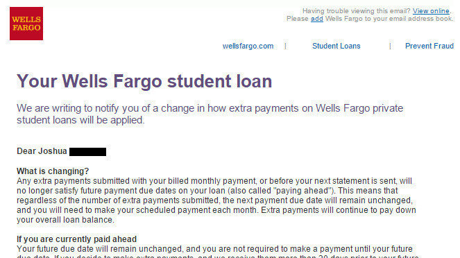 petition wells fargo allow customers to continue to pay ahead on their student loans. Black Bedroom Furniture Sets. Home Design Ideas