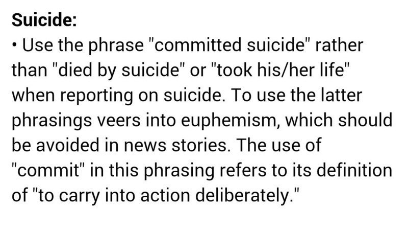 Modify The Buzzfeed Style Guide For Suicide