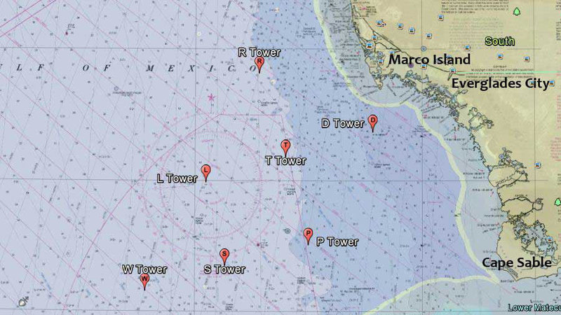 Map Of Southwest Florida Coast.Petition Department Of Defense Reef The Fishing Towers Off The