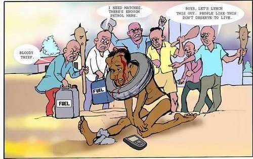 Please Stop Jungle Justice In Nigeria, It's Inhuman and Evil - Blogger Mgbenka ifeanyi OkijaAmaka Writes
