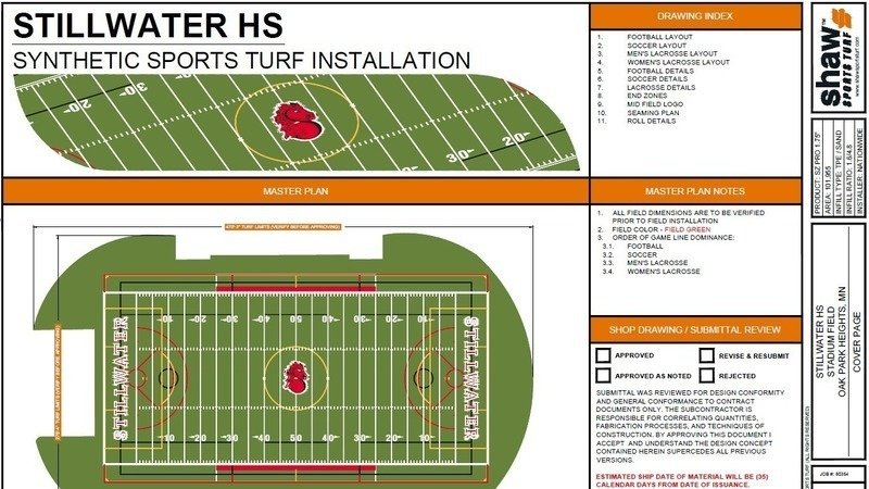 Line the new Stillwater Area High School turf field for Boys and Girls  Lacrosse!