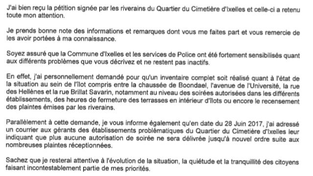 Petition Update Lettre De Mme Dufourny En Reponse A La Petition