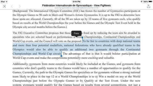 Petition  International Gymnastics Federation Reverse The Decision