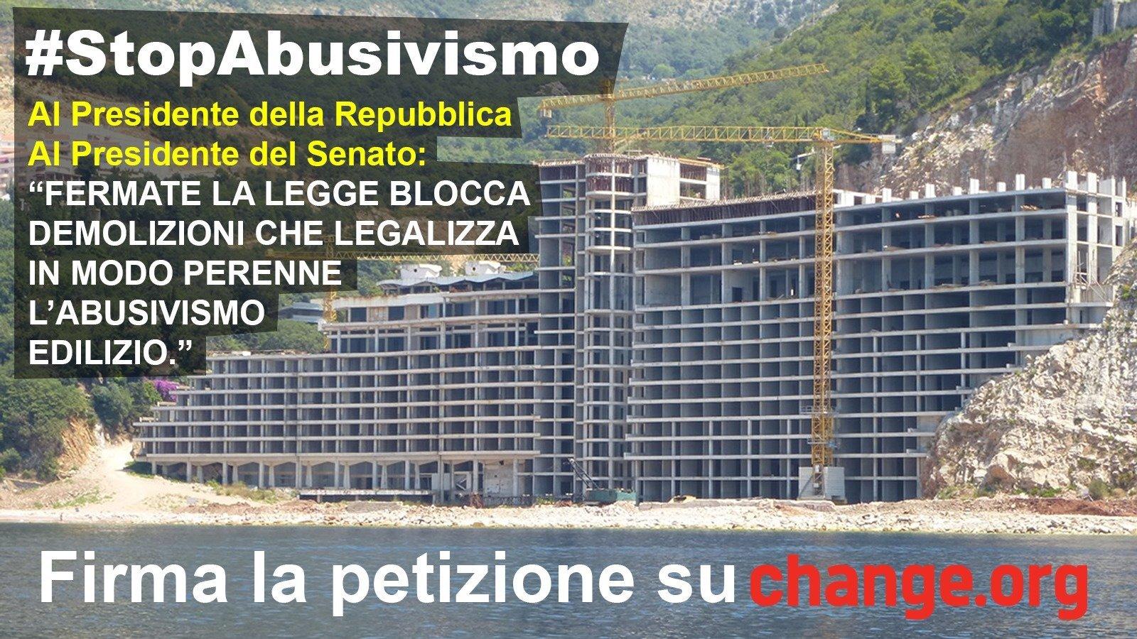 Petizione laura boldrini stopabusivismo blocchiamo la for Legge della repubblica