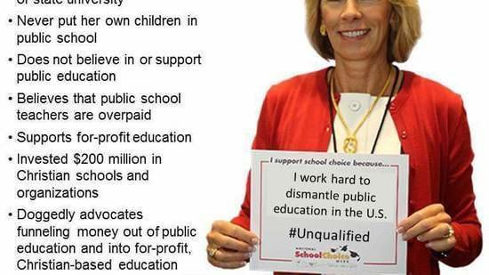 How Unqualified Is Betsy Devos >> Petition Students Replace Betsy Devos Change Org