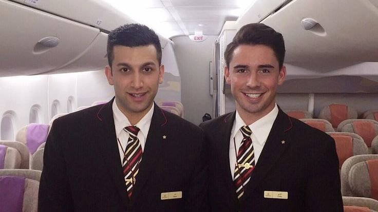 Spicejet cabin crew male