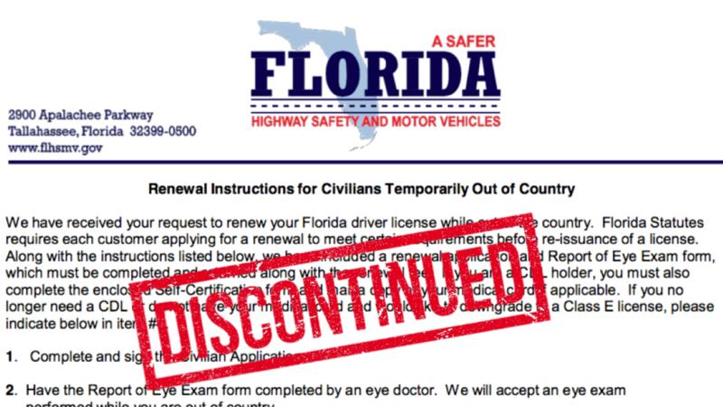 drivers license florida address change