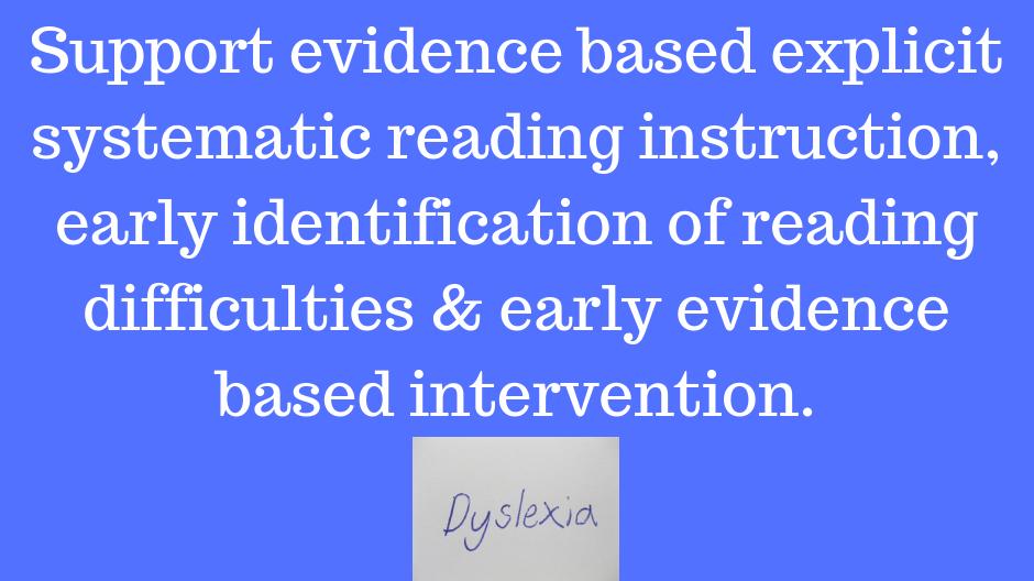 Petition Evidence Based Literacy Instruction Identification