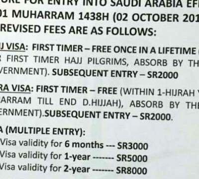 Petition · Saudi embassy: New Umrah Visa fees Must Fall