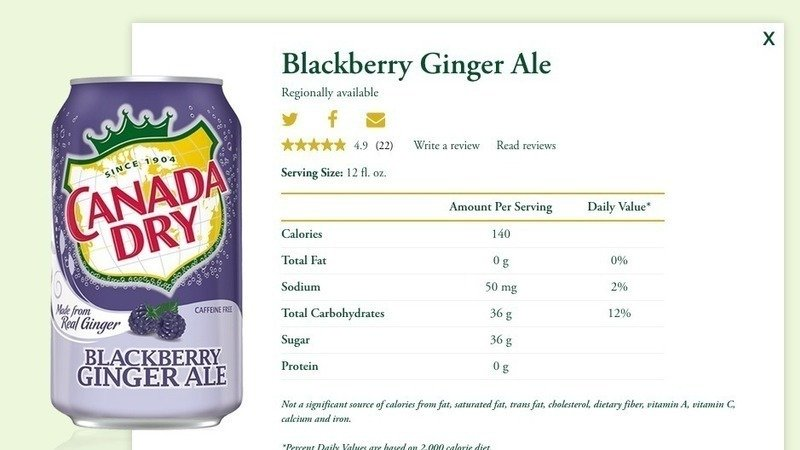 Petition Dr Pepper Snapple Group Make Canada Dry Blackberry