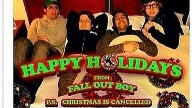 petition pete wentz petition for fall out boy to recreate a cringe photo changeorg - Fall Out Boy Christmas