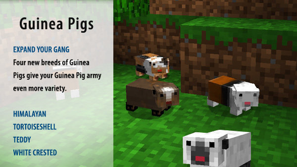 Petition Mojang Put Guinea Pigs In Minecraft Change Org