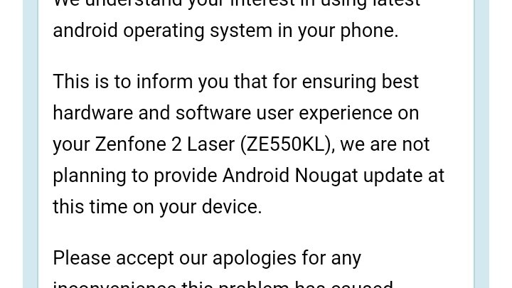 Petition · Asus's developers: Nougat update in asus zenfone 2 laser