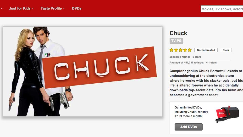 Petition update · Help Bring #Chuck Back on Netflix · Change org