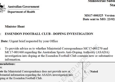 Petition update · ASADA bluffs its way through questions