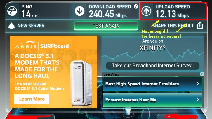 Petition · Comcast: Higher Upload Speed on Comcast ...