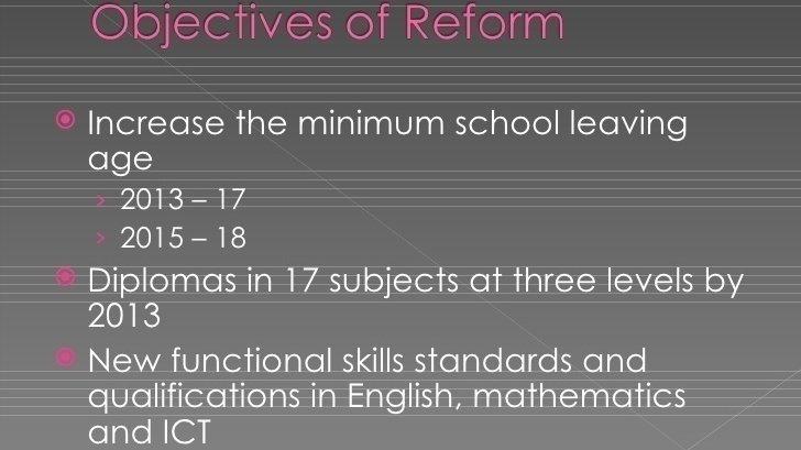 Compulsory education until 18