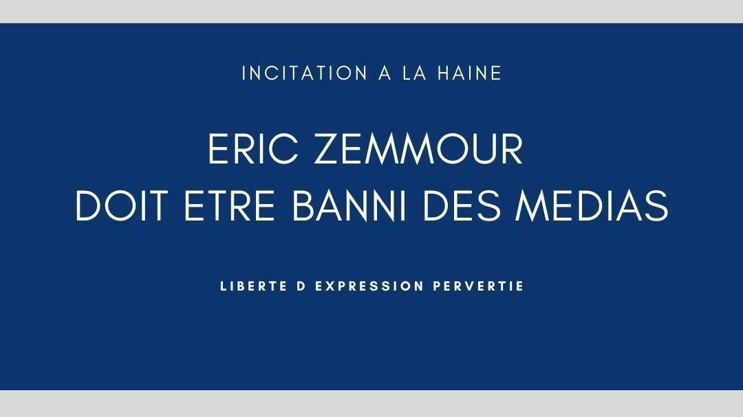Pétition · Eric Zemmour, xénophobe, doit être banni des médias ! · Change.org