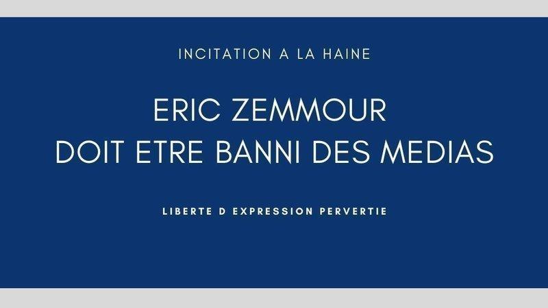 Pétition - Eric Zemmour, xénophobe, doit être banni des médias !