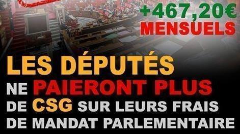 Petition Les Deputes Les Deputes Doivent Payer La Csg Et La Rds