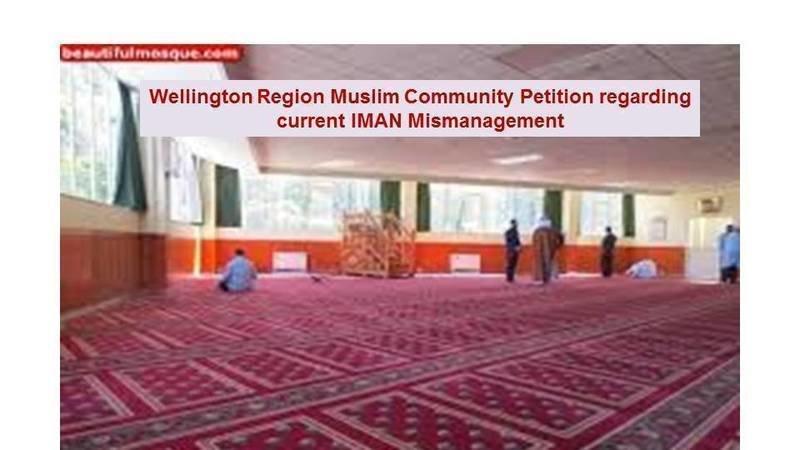 Petition  Wellington Region Muslim Community Petition Regarding