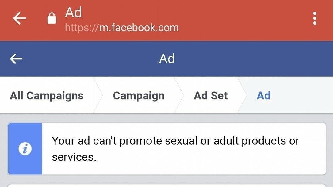 Topic · Facebook ads · Change org