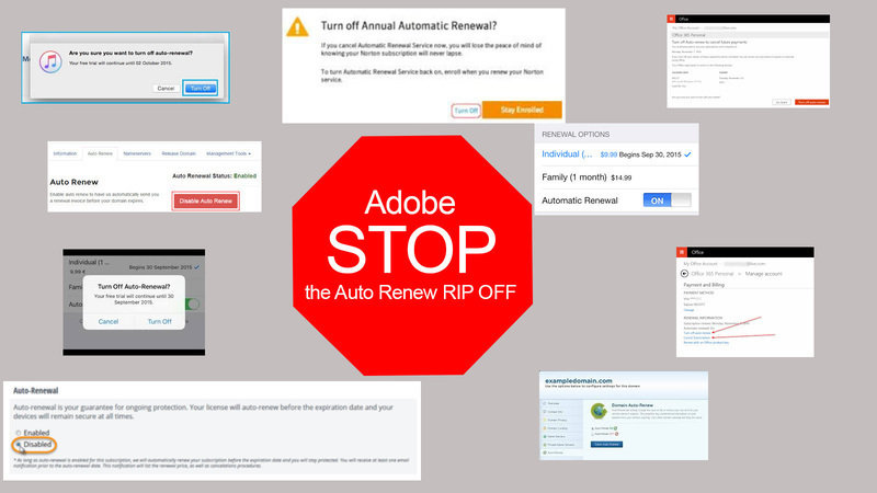 Petition · Adobe Systems: Adobe Creative Cloud Auto Renew