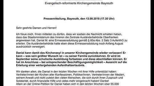 Petition update · Danial darf bleiben! Dank 57.000 Unterstützer ...