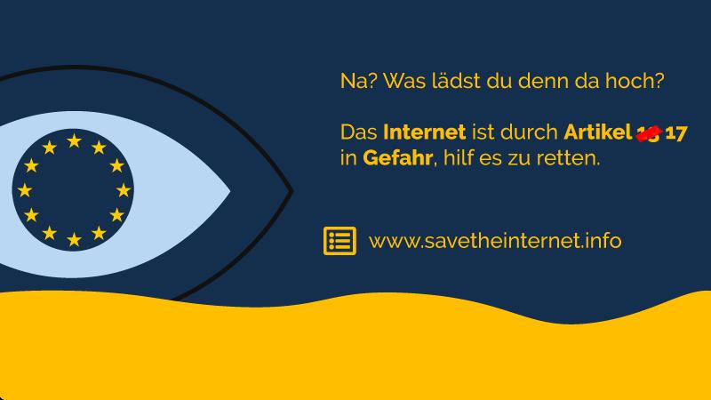 Stoppt die Zensurmaschine – Rettet das Internet! #Uploadfilter #Artikel13